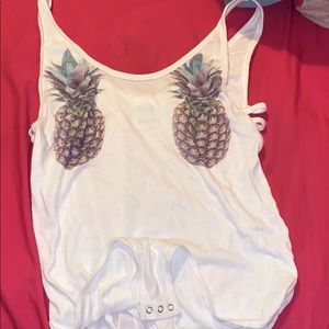 VICTORIAS SECRET PINEAPPLE BODY SUIT